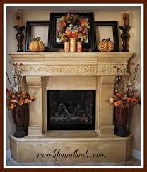 great fall fireplace mantel display still wood farmhouse autumn splendor for the hearth idea decorating decoration scarf
