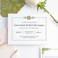 Wedding Invitatiins Coming Up Roses Wedding Invitations Paper Culture