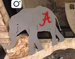 alabama elephant metal art metal wall art home decor alabama logo alabama metal art wall decor on alabama elephant wall art with alabama elephant etsy