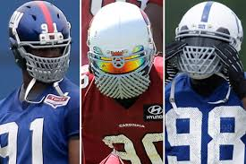 the nfl bans customized facemasks because football isn t supposed