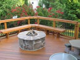 attractive best entranching wood deck with fire pit here s a wooden deck with a stone fire