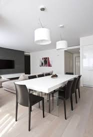 apartment design dining room furniture ideas white couplechandelier as chocolate floor area and dark chairs fodorova modern apartment a