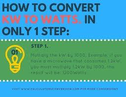 Kw To Watts Convert Automatically Formula Calculator