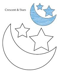 Small Picture 0 Level crescent and stars coloring page Download Free 0 Level