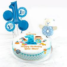 Personalised 1st Birthday Boy Gift Set From Bakerdays