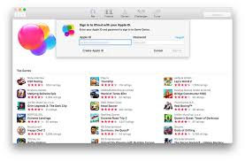 apple ni game center app in first