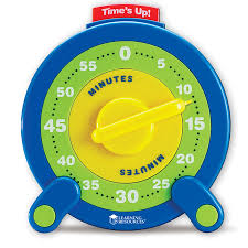 Minute Timers 60 Minute Jumbo Timer No Battery Needed Fun Stuff Toys