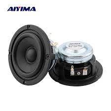 AIYIMA 2Pc 3 Inch Midrange Speaker 4 8 Ohm 15W Home Theater 20 Core Wool  Paper Cone Car Loudspeaker Full Range Bluetooth Speaker|Portable Speakers