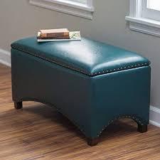 bedroom storage stool. Brilliant Storage Premium Nailhead Storage Bench  Modern Leather Window Seating Organizer  Home Furniture Living Room Bedroom Entryway Indoor Flip Top Teal For Stool E