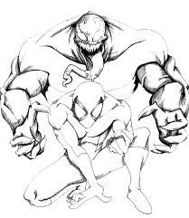 Disegni Da Colorare Spiderman E Venom Fredrotgans