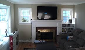 above fireplace ideas stone brick ct mounted fireplace wires side tv wall mount over stone best for into smlf