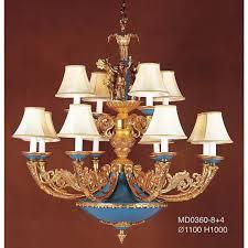 italian cast brass design with hand painted porcelain big chandelier item 0360 8 4
