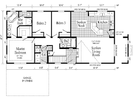 Windham Model HR102-A Ranch Home - Floor Plan