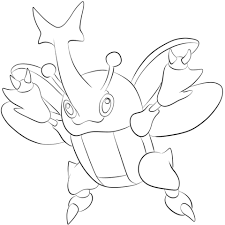 Click To See Printable Version Of Heracross Coloring Page Lineart