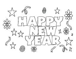 New Years Coloring Pages Betterfor