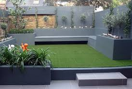 Small Picture Grey colour scheme agapanthus olives artificial grass porcelain