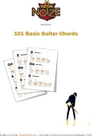 6 Sample Complete Guitar Chord Charts Free Download