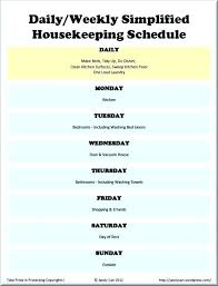Household Cleaning Chore Chart Household Schedule Template Modern Family Chore Chart