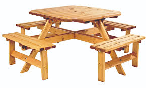 octagonal 8 seater picnic bench 324 99