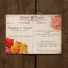 Floral Vintage Postcard Wedding Invitation By Feel Good Wedding