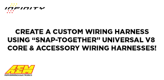 universal core accessory wiring harnesses aem aem s universal core accessory wiring harnesses simplify the installation of an infinity ecu on any 4 6 or 8 cylinder application an