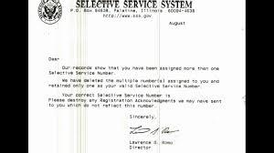 selective service letter