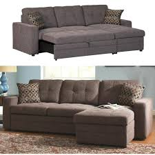 Coaster Gus Charcoal Chenille Upholstery Small Sectional Storage