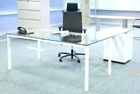 contemporary glass office. Glass Top Office Desk Contemporary Computer Modern  . A