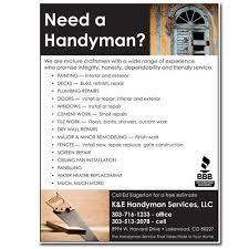 Handyman Flyer Template Unique Flyer Handyman Design Dog Studio LLC Handyman Pinterest