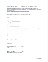 Leave Of Absence Letter Template For School Fresh Cool Sample