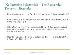 Lesson 19 – Factoring Polynomials Math 2 Honors - Santowski 12/23 ...