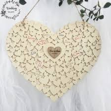 Sign Book For Wedding Us 17 5 Wooden Heart Shape Customs Personalised Heart Wedding Guestbook Sign Book Hanging Heart Wedding Guest Book In Signature Guest Books From