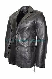 details about stylish men s black classic italian style blazer real nappa leather jacket coat