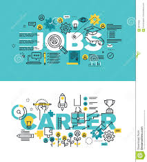 Concept Words For Design Set Of Modern Vector Illustration Concepts Of Words Jobs And