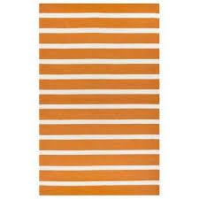 azzura hill orange striped 5 ft x 8 ft indoor outdoor area rug