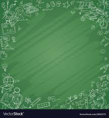 School Chalkboard Background White School Icons With Blackboard Background Vector Image