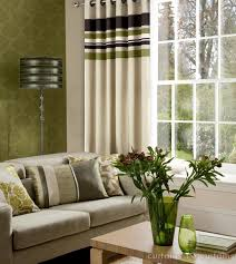 Striped Living Room Curtains Yale Green Brown Striped Eyelet Curtains Curtains And Curtains