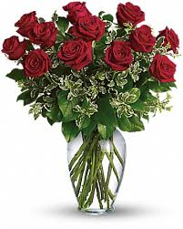 always on my mind long stemmed red roses bouquet