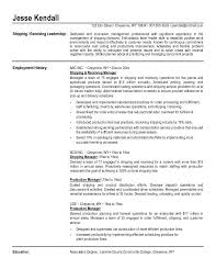 shipping manager resume