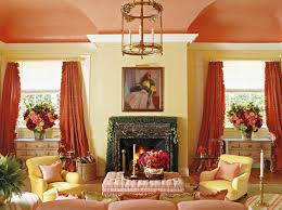 walker simmons living room fringed c curtains painted ceiling yellow walls