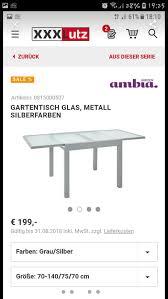 Gartentisch Balkontisch Esstisch Ausziehbar In 74379 Ingersheim Für