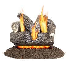 pleasant hearth arlington ash 18 in vented gas log set