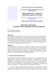 La Gestión Género pdf Identidad De Cultural Internet Educación Y