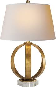 contemporary table lighting. Metal Banded Table Lamp, Gilded Iron Contemporary Table Lighting