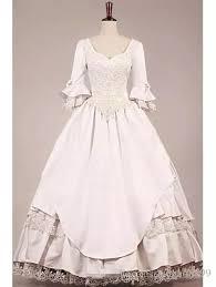 Hippie VICTORIAN WEDDING DRESS <b>new style Vintage</b> 3/4 long ...