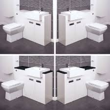 bathroom vanity unit cabinets back to wall toilet basin sink suite combination vanities for small