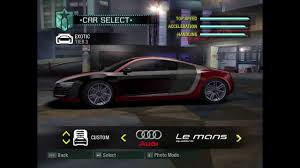 Need For Speed Carbon - Audi Le Mans Quattro - YouTube