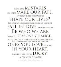 Seasons Of Life Quotes Mesmerizing Inspirational Quote About How Mistakes Shape Our Lives The