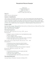 sample resume front office receptionist best desk clerk example hotel hospitality