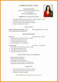 Resume Templates You Can Download Jobstreet Philippines Job Format